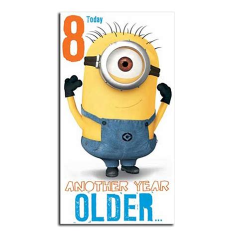 Minions Birthday Card Minion Birthday Card Collection Ebay