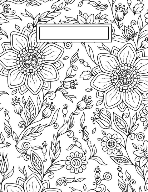 coloring pages wall art back to school binder cover adult coloring pages