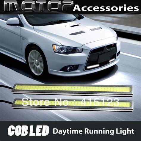Drl 6 Luxsen Diskon daya tinggi drl sepasang 12 v tongkol putih daytime running mengemudi cahaya cahaya bekerja