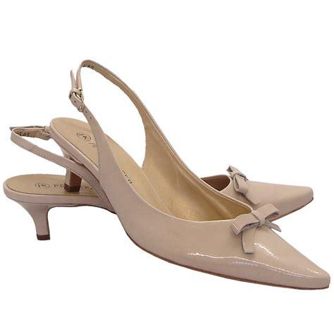 slingback sneakers kaiser rosette low heel slingbacks in patent