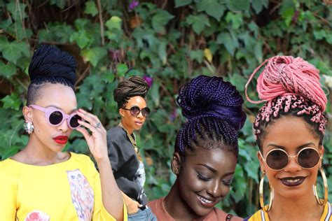 Hairstyles Buns Braids by Box Braids Bun Hairstyles You Will Swear With Hairstyles
