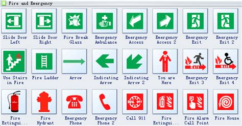 Create House Floor Plans Free by Emergency Evacuation Diagram Symbols