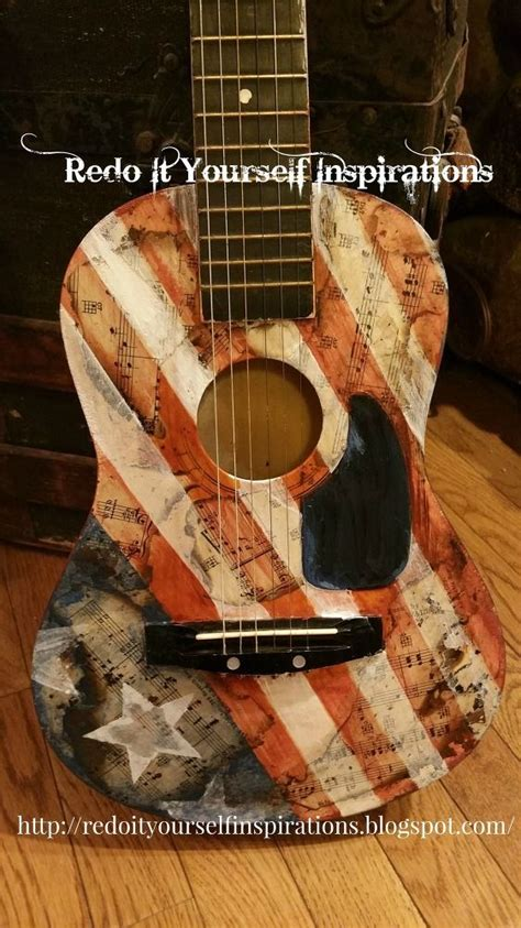 How To Decoupage A Guitar - guitar decoupage and upcycling on
