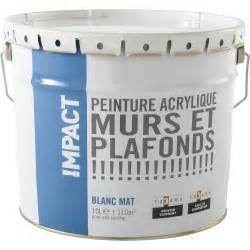 peinture blanche mur et plafond impact mat 10 l leroy