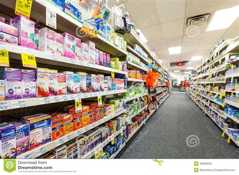 Cvs Section by Aisle In A Cvs Pharmacy Editorial Stock Photo Image Of Cure 43066023