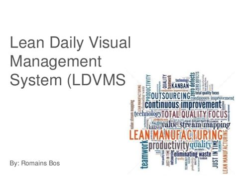 Lean Operations And Systems Mba lean daily visual managementsystem ldvms