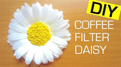 How To Make Paper Daisies - how to make a paper flower coffee filter flower