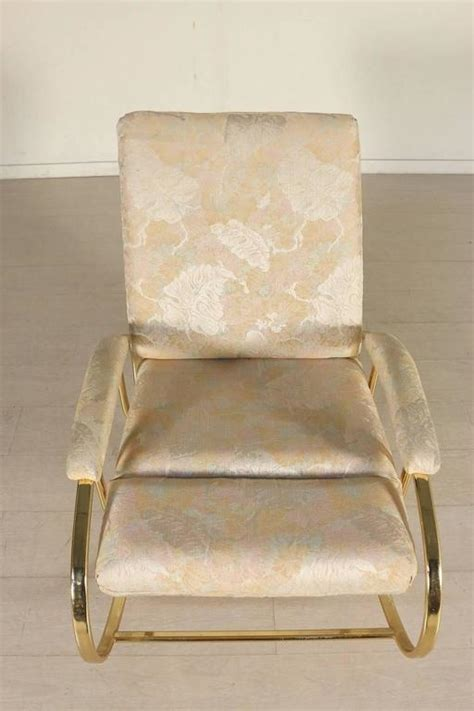 furniture upholstery foam rocking chair brass plated metal foam padding fabric
