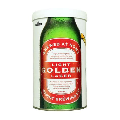 what makes light beer light wilko light golden lager brewing kit makes 40 pints at