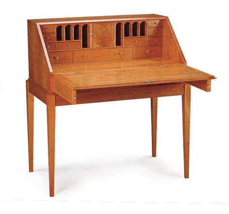 cherry slant top writing desk finewoodworking