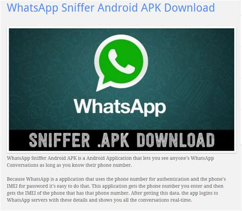tutorial whatsapp sniffer android writer investopedia download pdf