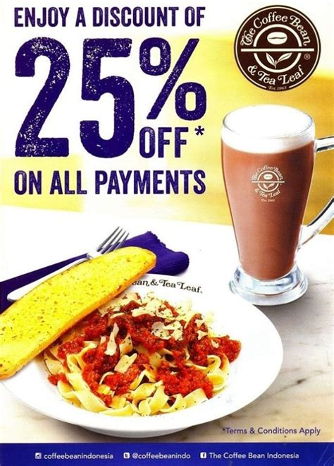 the coffee bean promo diskon 25 di plaza blok m katalog