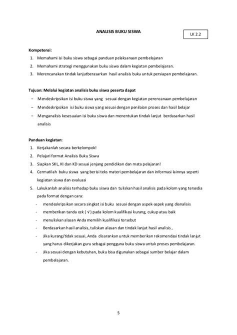format analisis buku guru dan siswa analisis buku guru dan siswa