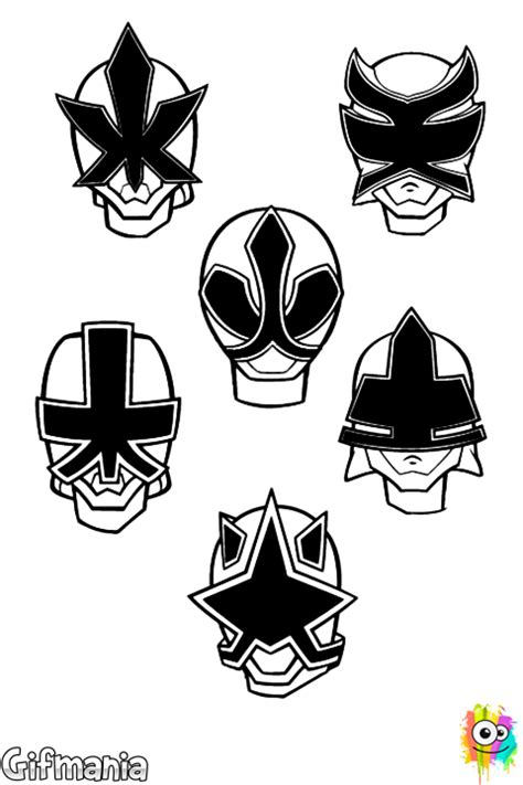 power rangers mask coloring pages power rangers super samurai coloring page