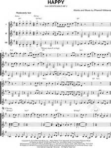 printable lyrics to happy by pharrell williams pharrell williams quot happy quot sheet music in g major