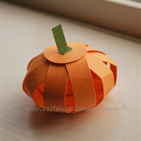 Pumpkin Papercraft - craftaholics anonymous 174 paper pumpkin tutorial