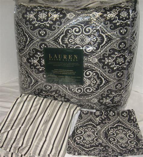 ralph lauren comforter sets queen ralph lauren spectator black paisley stripe queen