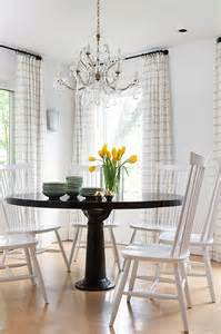 country dining room curtains farmhouse dining table with gray windsor dining chairs
