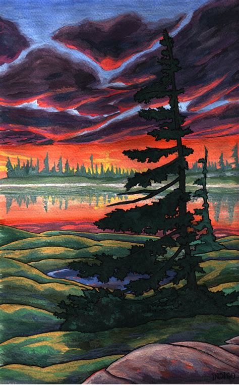 Landscape Artists In Canada Landscape Paintings By Canadian Artist Indigo