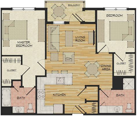 apartment floor plans 2 bedroom 2 bedroom apartments flats 520 north haven ct