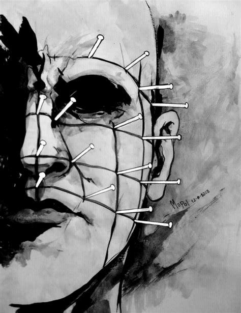 imagenes surrealismo terror dibujo de pinhead hellraiser mepol ilustraciones