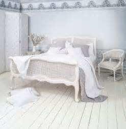 white shabby chic bedroom provencal white rattan rattan bed king shabby chic style