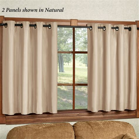 paramount curtain store paramount short thermal grommet curtain panel