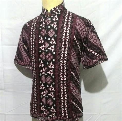 Baju Kemeja Laki Batik Lengan Panjang Pria Cowok Slimfit Formal Casual jual baju kemeja batik pria cowok laki kerah koko
