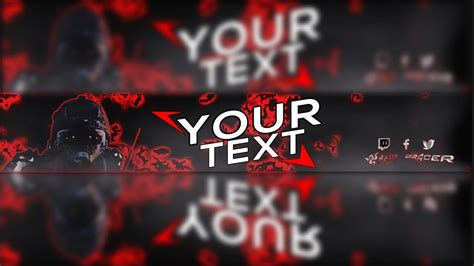 Cool 2017 Youtube Gaming Banner Template Psd W Download Youtube Gaming Banner Template Psd
