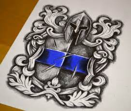 tattoo design jobs warrior shield crest design
