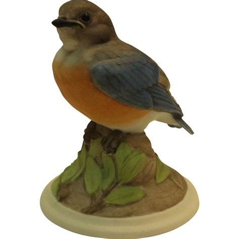 bird figures boehm baby blue bird 442 vintage porcelain bird figurine