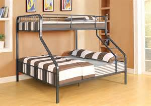 Bunk Bed Frames Twin Over Queen Caius Gunmetal Twin Xl Queen Bunk Bed