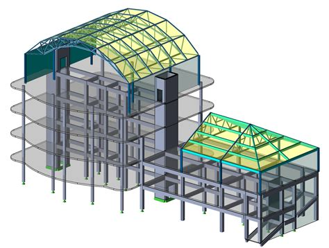 structural layout of a building tekla structural designer tekla
