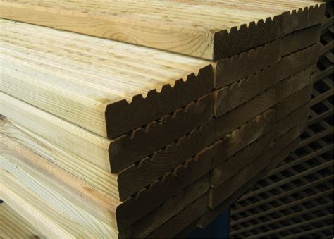 125mm X 32mm Tanalised Deck Boards Decking