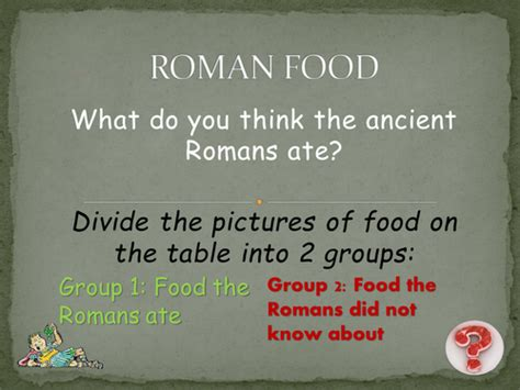 design a menu ks2 ancient roman food and drink by cgallop teaching