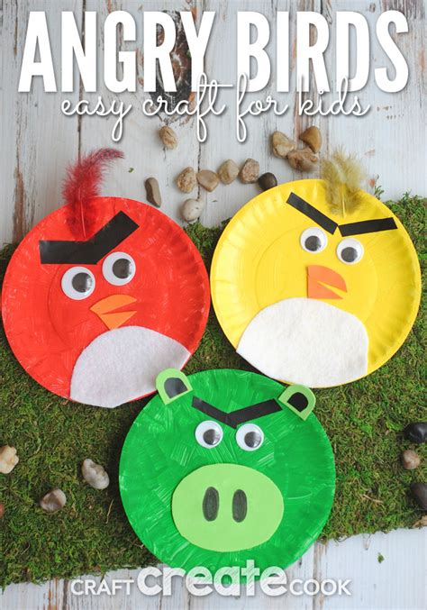 craft create cook angry birds paper plate craft