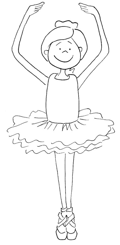 A Ballet Dancer Coloring Pages Ballerina Colouring Page