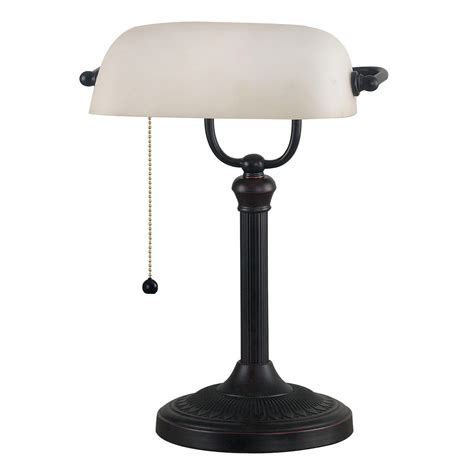Small Bankers Lamp by Vintage Modern Bankers Lamp Task Desk Light Brass Emerald