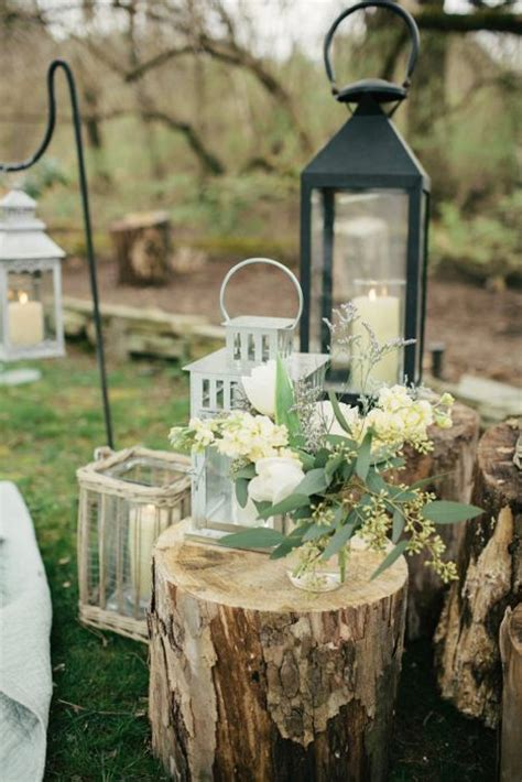 tree stumps wedding ideas  rustic country weddings