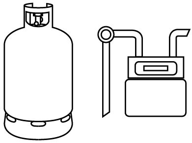 gas cylinder clipart black and white 1 | clipart station