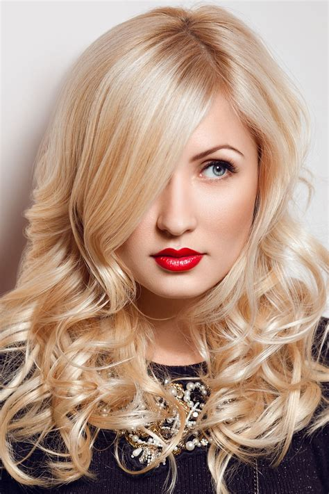 blonde girl with red lipstick beautiful blonde with red lips glamour model woman