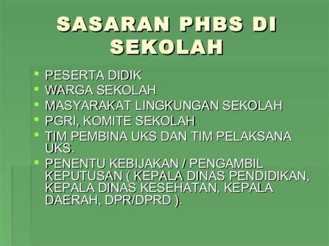 phbs  tatanan sekolah