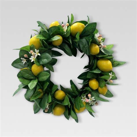 Home Decor Drop Shipping artificial lemon wreath threshold target