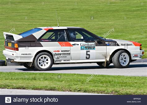audi rally audi quattro b rally car on the rallying track at