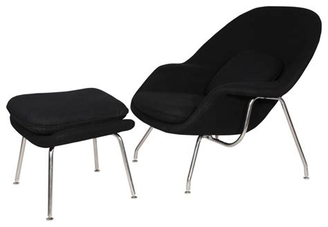 Comfy Chair And Footstool Comfy Chair And Ottoman Set Black Modern Armchairs