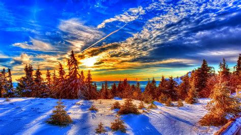 winter sunset hd wallpaper 50 images