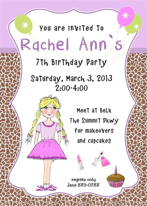 children s 7th birthday invitation wording 7th birthday invitation wording free invitation templates drevio
