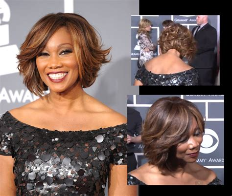 yolanda adams wigs celebrity hair yolanda adams feathered bob cut for the