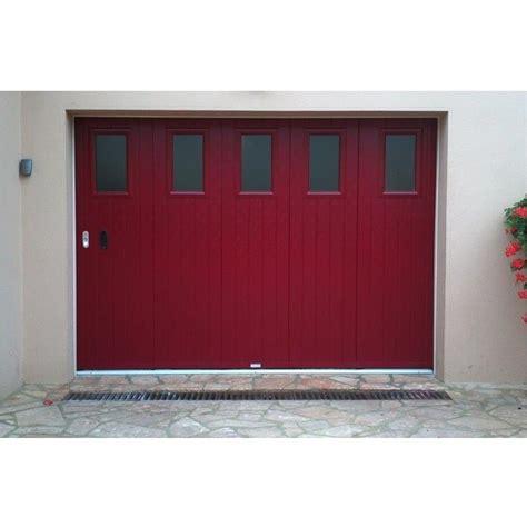 porte de garage sectionnelle laterale  la belle fenetre