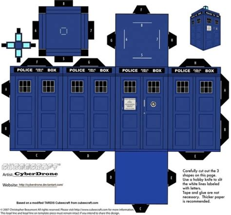 D D Papercraft - doctor who papercraft by cyberdrone collect3d